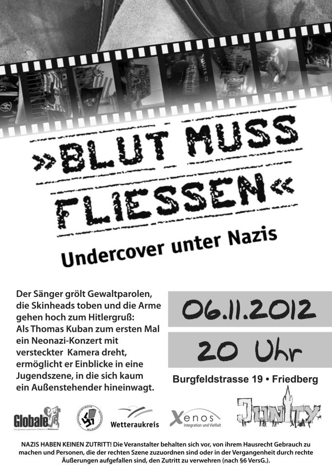 "06.11 in Friedberg – ""Blut muss fließen – Undercover unter Nazis"""