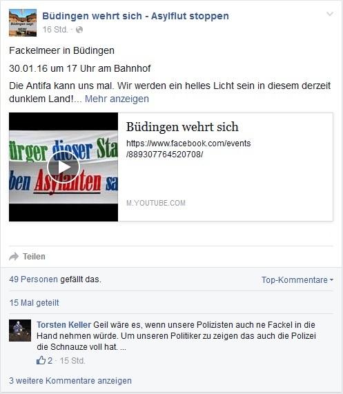 Büdingen: Neonazis mit Vorliebe für Nazi-Terrorgruppe verbreiten Mobilisierungs-Video für die Demo